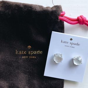 NWT Kate Spade White Stud Earrings